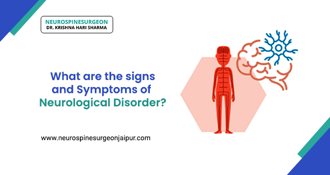 signs and symptoms of neurological disorder